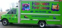 harvest party rentals delivery truck